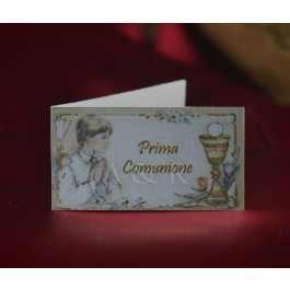C228 First Communion Boy Favor Tags Bigliettini