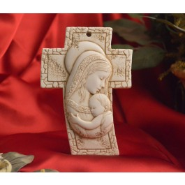 RL3200 Mother and Child Standing Cross Made in Italy