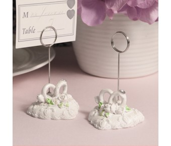 """RB1253 """"Heartfelt Vows"""" Picture/Place Card Holder"""