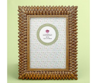 12885 Brushed gold leaf design 5 x 7 frame