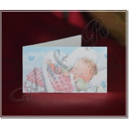 F108 Italian Baby Shower Favor Tag Bigliettini girl