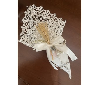 AF500 Italian Cone Macrame with wheat and Rosary