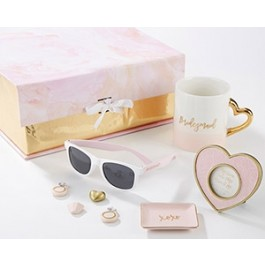 00121NA Pink and Gold Will You Be My Bridesmaid Kit