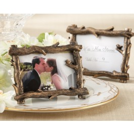 """25076BR """"Scenic View"""" Tree-Branch Place Card/Photo Holder"""