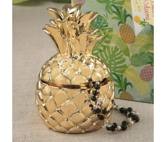 8876 Pineapple themed gold pineapple box from the Warm Welcome Collection