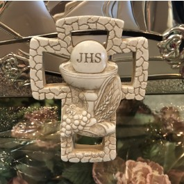 BE17179 First Holy Communion Chalice On A Marble Dust Texture