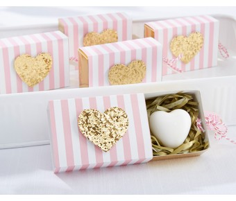 "21061PK ""Heart Of Gold"" Scented Heart Soap"