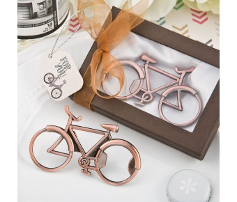 6163 Vintage Bicycle design antique copper color metal bottle opener