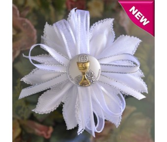 CF30 First Holy Communion Confetti Flower with Silver Chalice