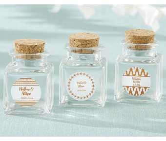 27081NA-SFG Personalized Mini Mason Jar - Silver Foil (Set of 12)