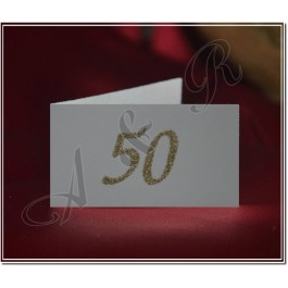 M356 50Th Wedding Anniversary Favor Tags with Glitter