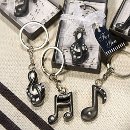 6460 Musical Note Key Chain Favors