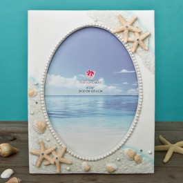 12846 Glorious Hand painted Beach 8 x 10 frame from gifts by fashioncraft