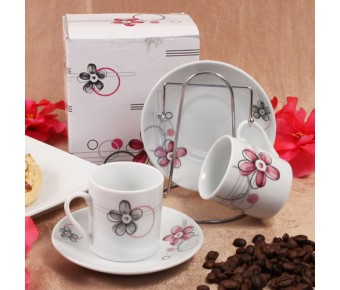 "RB1212 ""One Cup, Two Cup"" Espresso Set with Rack"