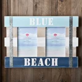 12172 Double Blue Beach Frame 6 x 4 from gifts by fashioncraft