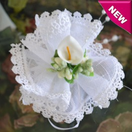 AF55 Italian Macrame Bomboniera with Calla Lily