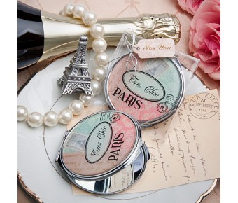 5949 Pretty Paris-themed mirror compact  favor