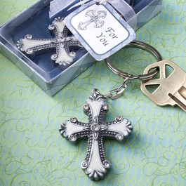 6533 Cross Design Keychain Favors