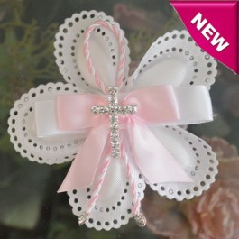 CF800 Italian Confetti Flower with Rhinestone pin cross