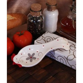 "RB1128 ""Kitchen Chickens"" Spoon Rest"