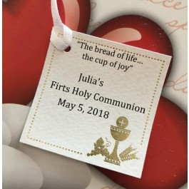 NT100 Italian First Communion Favor Tag Bigliettino
