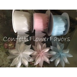 AR1525 Coccarde Ribbon DIY Confetti Flowers (various colors available) by myitalianfavors.com