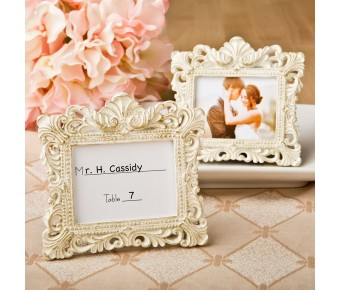 8384 Vintage Baroque design placecard holder or picture frame
