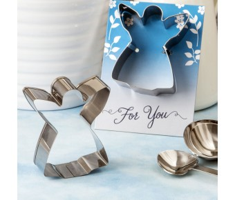 5108 Guardian Angel themed cookie cutter made in tin metal with a shiny silver finish