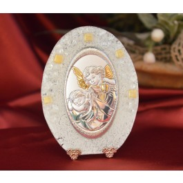 65MUR Made in Italy First Guardian Angel on a Murano Glass Stand