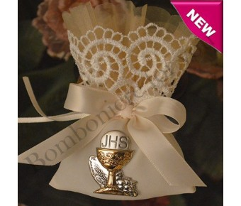 AF460 Italian First Communion Pouch with Italian Silver Chalice