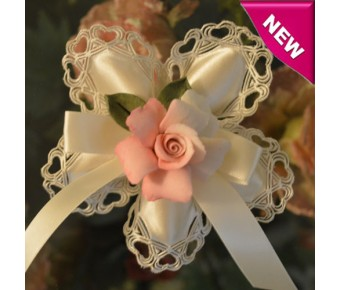 CF665 Italian Confetti Flowers with Capodimonte Rose Flower