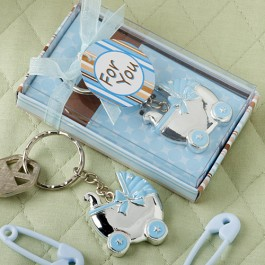 8192 Blue Baby Carriage  Design Key Chains