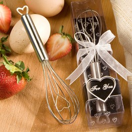 4206 Heart Design Wire Whisk Favors