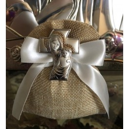 AF2320 AF2320 Almond favors, Baptism, Communion favors with made in Italy chalice, favors, koufeta mementos, italian favors Bomboniere, burlap bag