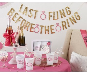 00114NA Last Fling Before the Ring 66 Piece Bachelorette Party Kit