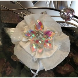 HC105 Haute Couture Pouch Wedding favors with aurora borealis crystal Flower