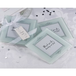 "A51000 ""Memories Forever"" Frosted Glass Photo Coaster (Set of 2)"