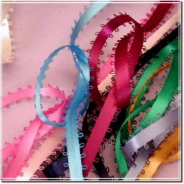 "3/8"" Personalized satin ribbon Picot Edge"