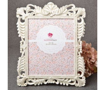 12853 Brushed Gold Baroque Ivory 8 x 10 Frame