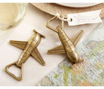 "11254NA ""Let the Adventure Begin"" Airplane Bottle Opener"