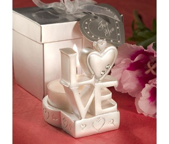 8104 Love Design Candle Holder Favors