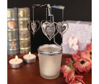 "RB1151 ""The Heart goes 'Round"" Spinning Heart Candle"