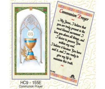 HC9-155 First Communion Prayer Card