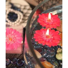 """RB7852HP """"Floating Florals"""" Hot Pink Flower Daisy Floating Candle"""