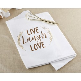 00125NA Live, Laugh, Love Whisk and Tea Towel