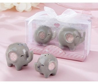23035NA Little Peanut Ceramic Elephant Salt & Pepper Shakers