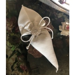 HC130 Haute Couture Cone Wedding favors Bomboniere with Rhinestone Charm
