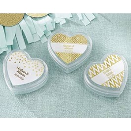 18069NA-GFG Heart Favor Container - Gold Foil (Set of 12)