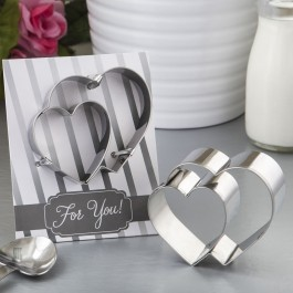 5107 Double heart design cookie cutter from fashioncraft