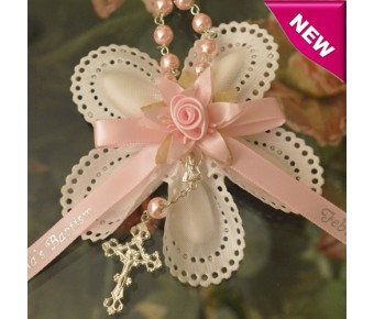 CF595 Italian Confetti Flower with Decade Rosary